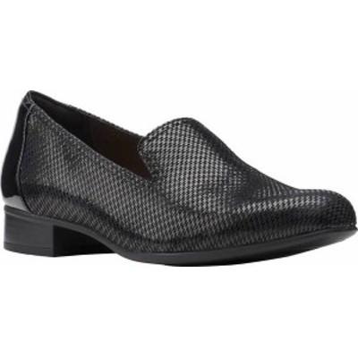 クラークス レディース スリッポン・ローファー シューズ Women's Clarks Juliet Hanley Loafer Black Interest Leather