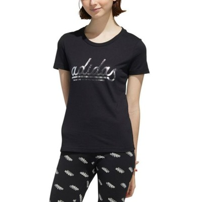 アディダス レディース Tシャツ トップス Women's Foil Logo T-Shirt