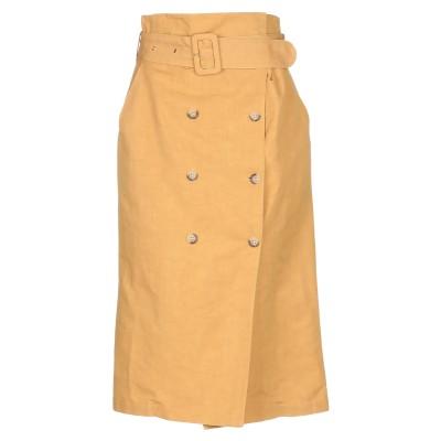 SUOLI 7分丈スカート オークル 46 麻 57% / コットン 43% 7分丈スカート