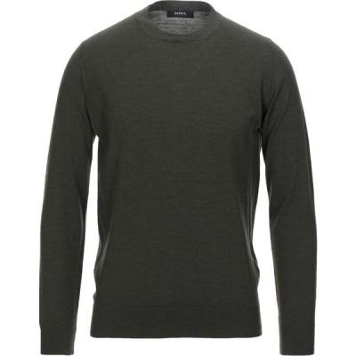 アルファス テューディオ ALPHA STUDIO メンズ ニット・セーター トップス Sweater Military green