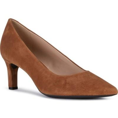 ジェオックス GEOX レディース パンプス シューズ・靴 Bibbiana Pump Cognac Suede