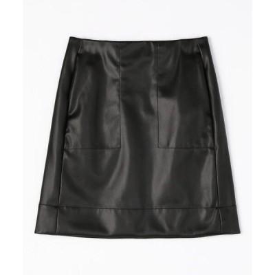 スカート フェイクレザー ミニスカート
