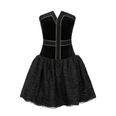 ISABEL GARCIA ミニワンピース&ドレス ブラック 40 ポリエステル 100% ミニワンピース&ドレス