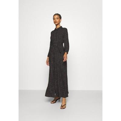 ヤス ワンピース レディース トップス YASSAVANNA BELT ANKLE DRESS - Maxi dress - black/light taupe