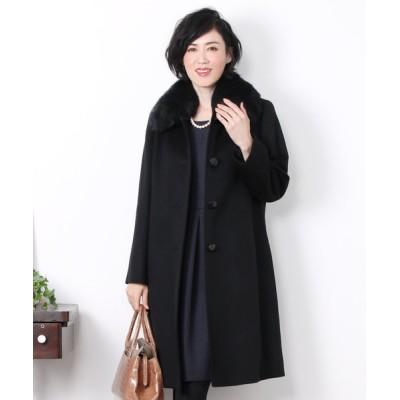 三京商会 / カシミヤ100%ステンカラーロングコート WOMEN ジャケット/アウター > ステンカラーコート