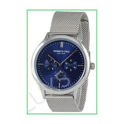 Kenneth Cole New York Men's Multifunction Blue Analog Watch Steel Bracelet KC50135001 並行輸入品