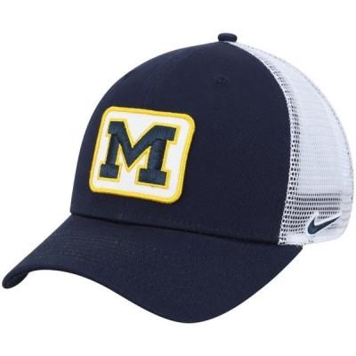ユニセックス スポーツリーグ アメリカ大学スポーツ Michigan Wolverines Nike Classic 99 Trucker Adjustable Snapback Hat - Navy -