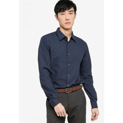 ヒューゴ ボス Boss メンズ シャツ トップス T-Carl Long Sleeve Shirt Dark Blue