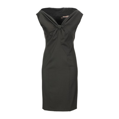 KARL ミニワンピース&ドレス ミリタリーグリーン 40 バージンウール 98% / ポリウレタン 2% ミニワンピース&ドレス