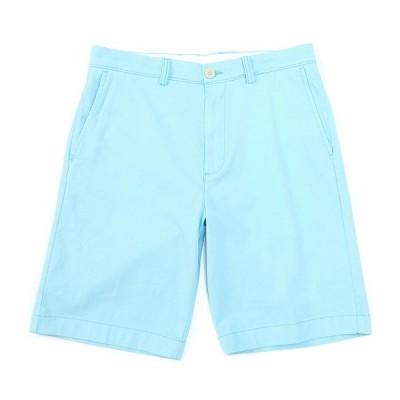 ランドツリーアンドヨーク メンズ ハーフ&ショーツ ボトムス 11#double; Inseam Flat-Front Stretch Washed Chino Shorts Aqua