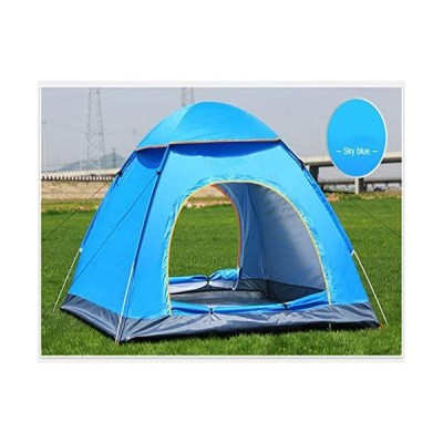 N/F Outdoor Waterproof Hiking Camping Tent Anti-UV Portable 2 Person Ultralight Folding Tent Pop Up Automatic Open Sun Shade (Blue)【並行
