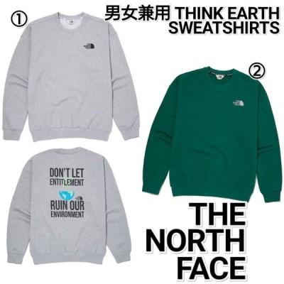 THE NORTH FACE ノースフェイス THINK EARTH トレーナー グレー 緑 メンズ レディース NM5MM01