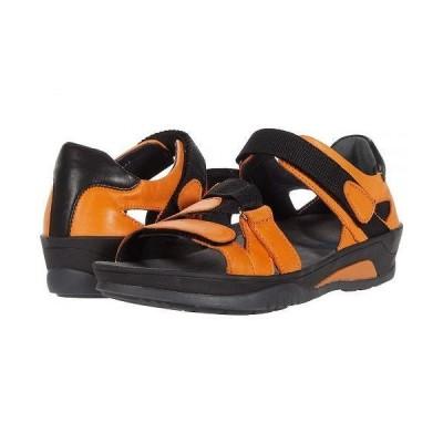 Wolky ウォーキー レディース 女性用 シューズ 靴 サンダル Ripple - Orange Savana Leather