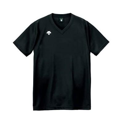 デサント バレーボール 男女兼用 V首半袖ゲームシャツ DSS-4321 (ブラック S)