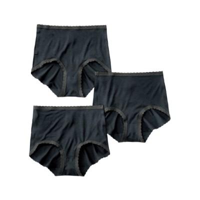 アウターにひびきにくい レーヨン。綿混ストレッチ深ばきショーツ3枚組 スタンダードショーツ, Panties