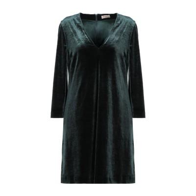 BLANCA ミニワンピース&ドレス ダークグリーン 46 ポリエステル 98% / ポリウレタン 2% ミニワンピース&ドレス