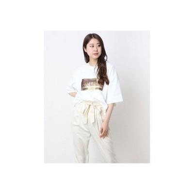 ジーラ GeeRA アートデザインプリントTシャツ (最後の晩餐×オフ白)
