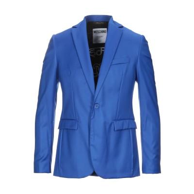 モスキーノ MOSCHINO テーラードジャケット ブルー 50 バージンウール 100% テーラードジャケット