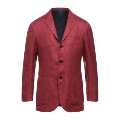 KITON テーラードジャケット レンガ 48 カシミヤ 80% / リネン 11% / シルク 9% テーラードジャケット