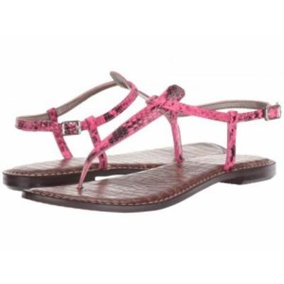 Sam Edelman サムエデルマン レディース 女性用 シューズ 靴 サンダル Gigi Neon Pink Snake Print Leather【送料無料】