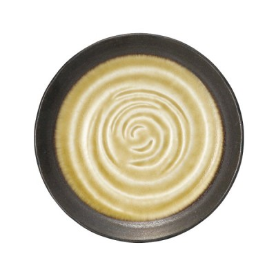 水鏡 黄 5.0丸皿 丸皿 高さ24mm×直径:155/業務用/新品/10個入り