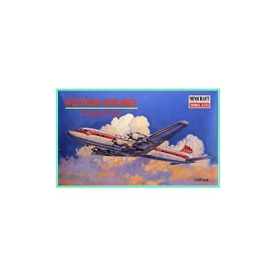 2001 Douglas WESTERN AIRLINES DC-6B Airplane #14473 Plastic Model Kit (1:144 Scale)並行輸入品