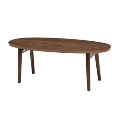ds-2316725 折りたたみテーブル/ローテーブル 【ブラウン 幅95×奥行40×高さ32cm】 木製脚付き R6420BR 〔リビング ダイニング〕【代引
