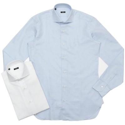 BARBA(バルバ)406 コットンリネンツイルソリッドワイドカラーシャツ I/406/TONDO/6243 11101206022   PS3