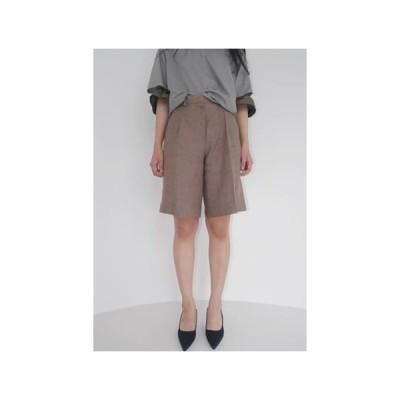 AFTERMONDAY レディース ショートパンツ linen shepherd half pants