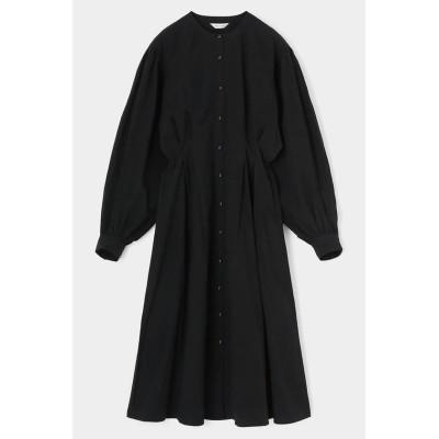 【マウジー】 WAIST TUCK LONG シャツ ドレス レディース ブラック 1 MOUSSY