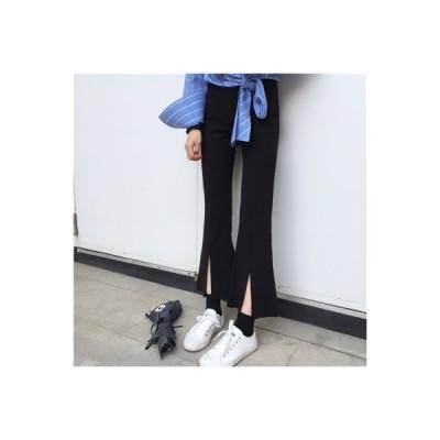【送料無料】ファッション レトロ マイクロ スピーカー スプリットパンツ 九分パンツ 女 年   364331_A64784-8946721
