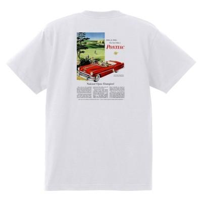 アドバタイジング ポンティアック 486 白 Tシャツ 黒地へ変更可能 1954 ローレンシャン スターチーフ パスファンダー カタリナ ホットロッド