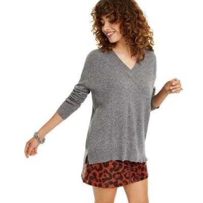 チャータークラブ ニット&セーター アウター レディース Cashmere Oversized V-Neck Sweater, Created for Macy's Mid Grey Heather