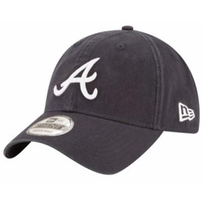 ニューエラ New Era メンズ キャップ 帽子 MLB 9Twenty Core Classic Replica Cap MLB Atlanta Braves Black Road