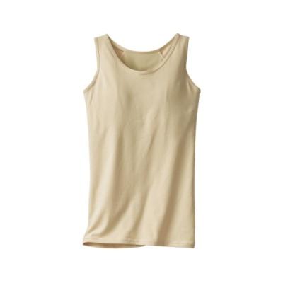 綿混脇すっきりブラトップタンクトップ(10L) (ブラトップ・カップ付インナー)Camisole