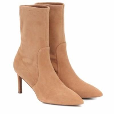 スチュアート ワイツマン Stuart Weitzman レディース ブーツ ショートブーツ シューズ・靴 Yvonne 75 suede ankle boots Tan