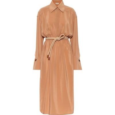 フェンディ Fendi レディース ワンピース シャツワンピース ワンピース・ドレス silk midi shirt dress Elmtree