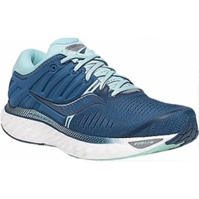 サッカニー レディース スニーカー シューズ Women's Saucony Hurricane 22 Running Sneaker Blue/Aqua Engineered Mesh