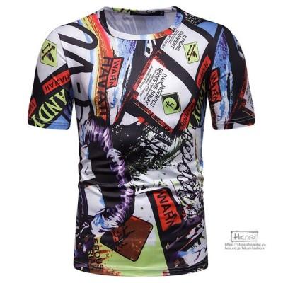 Tシャツ 半袖 夏服 メンズ トップス 柄Tシャツ アロハシャツ ビーチ カジュアルTシャツ サマーTシャツ 父の日