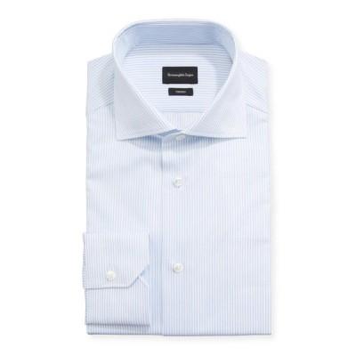 エルメネジルド・ゼニア メンズ シャツ トップス Men's Striped Trim-Fit Dress Shirt