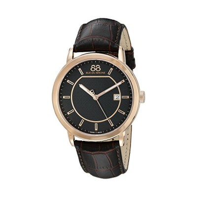 88 Rue du Rhone Men's 87WA130013 Double 8 Analog Display Swiss Quartz Brown Watch 並行輸入品