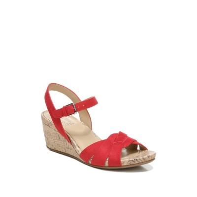 ナチュライザー レディース サンダル シューズ Adelina Wedge Sandal - Wide Width Available BLAZE RED