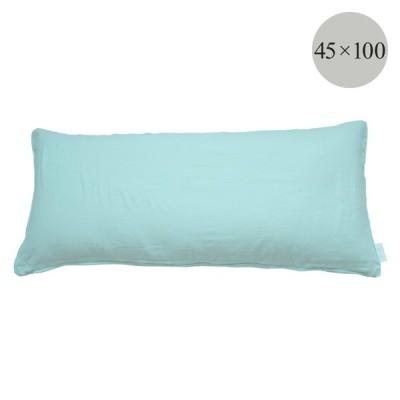 クッションカバー 45 100 パイピング 『joujou in MOOR FABRIC』 コットンシュガー 綿100% ピュアコットン ミント 抱き枕カバー