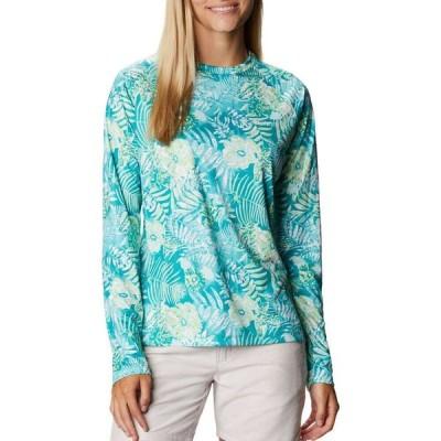 コロンビア Columbia レディース 長袖Tシャツ トップス Super Tidal Long Sleeve Shirt Tropic Watr Batik Flrl Pr
