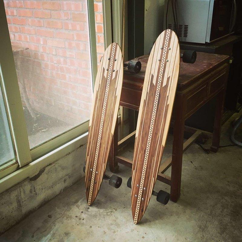 訂製 手工拼木 寄木細工 滑板