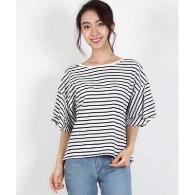 tシャツ Tシャツ フレアスリーブプルオーバー