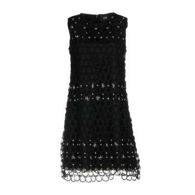 クラス ロベルト カヴァリ CAVALLI CLASS ミニワンピース&ドレス ブラック 46 100% ポリエステル ミニワンピース&ドレス