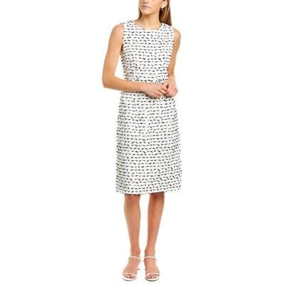 オスカー デ ラ レンタ ワンピース トップス レディース Oscar de la Renta Tweed Silk-Lined Sheath Dress -