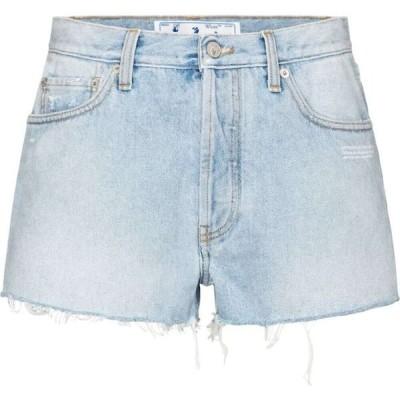 オフホワイト Off-White レディース ショートパンツ デニム ボトムス・パンツ high-rise denim shorts Light Blue