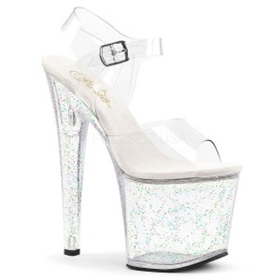 Pleaser TABOO-708MG 7 1/2inch Heel, 3 1/2inch PF Ankle Strap Sandal w/Glitter◆取り寄せ